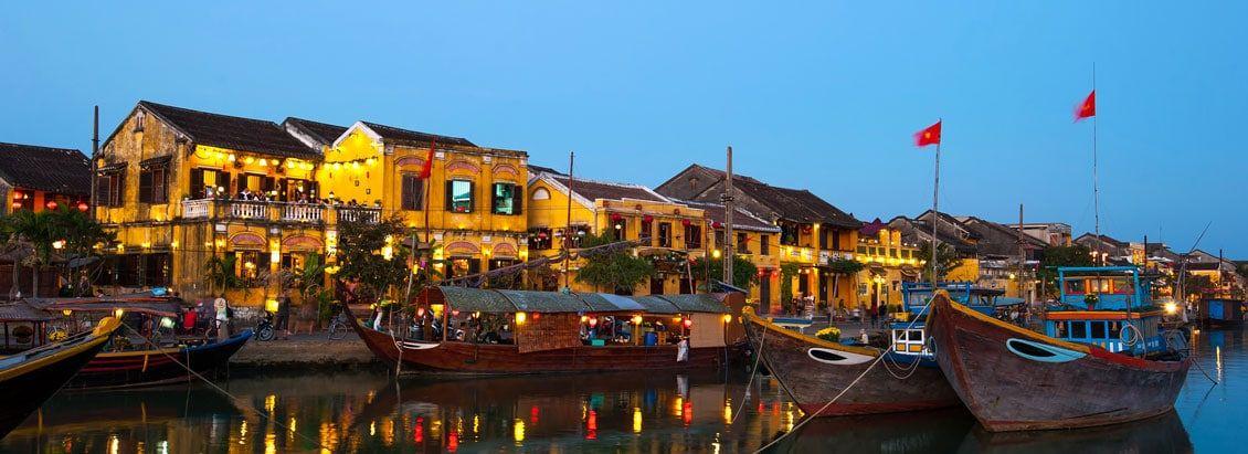 Der Hafen in Hoi An