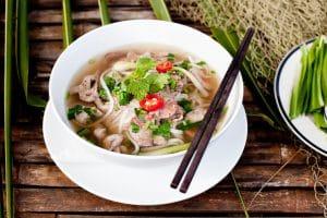 Nudelsuppe Pho als vietnamesisisches Nationalessen