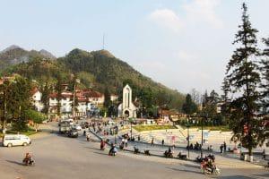 Der Quang Truong Marktplatz in Sapa
