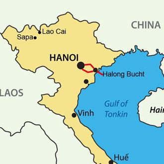 Ihre Reiseroute in die Halong Bucht